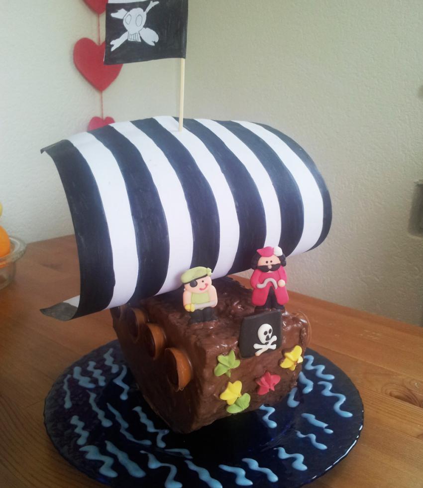 Rezept Piratenschiff Kuchen  kinderrezeptede