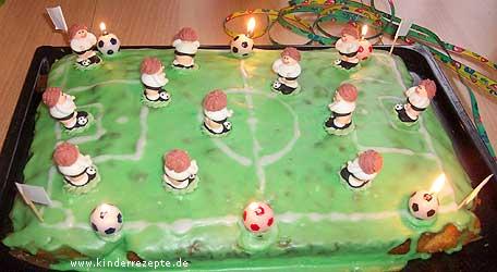 Rezept FussballKuchen  kinderrezeptede