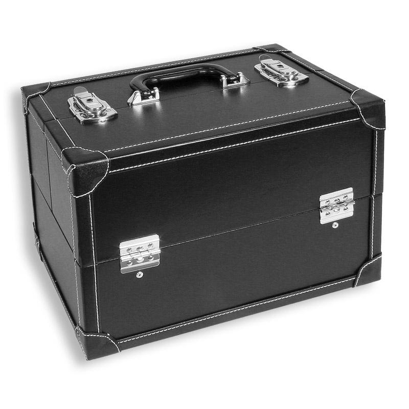 LUXUS Kosmetikkoffer Frisrkoffer LasVegas schwarz Luxus Beautycase Schmuckbox  eBay