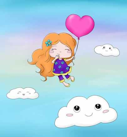 girl in clouds