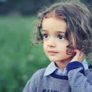 kid in field