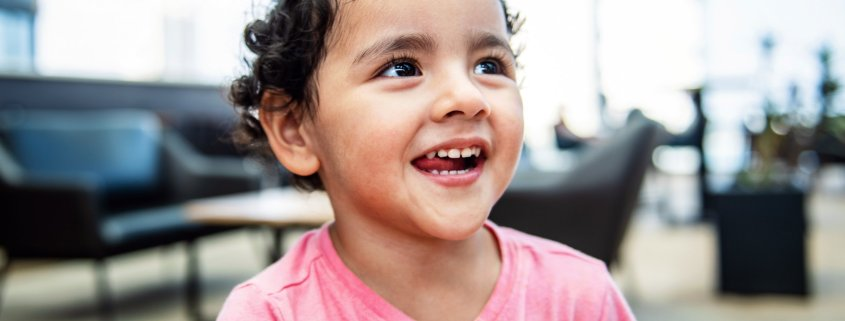 child with healthy gums