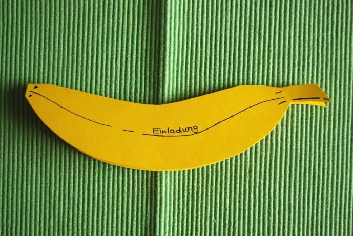 Einladung Banane  KinderspieleWeltde