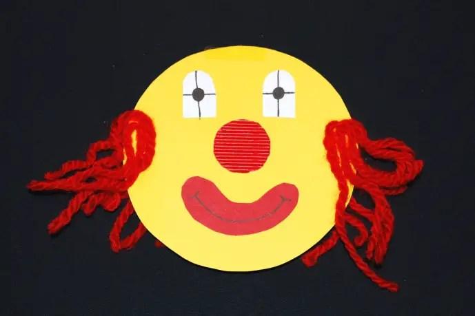 Clownkpfe basteln  KinderspieleWeltde