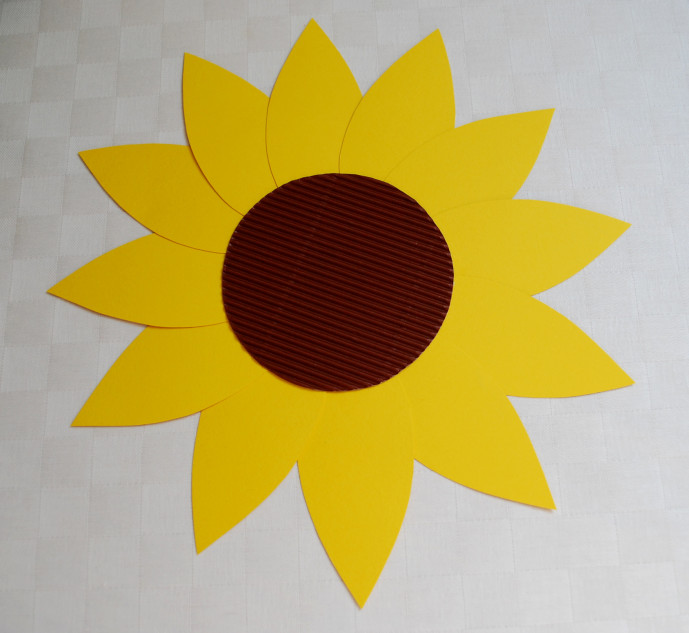 Sonnenblume Drinnen