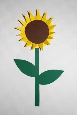 Sonnenblume Handabdruck  KinderspieleWeltde