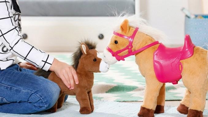 baby born pferd mit fohlen