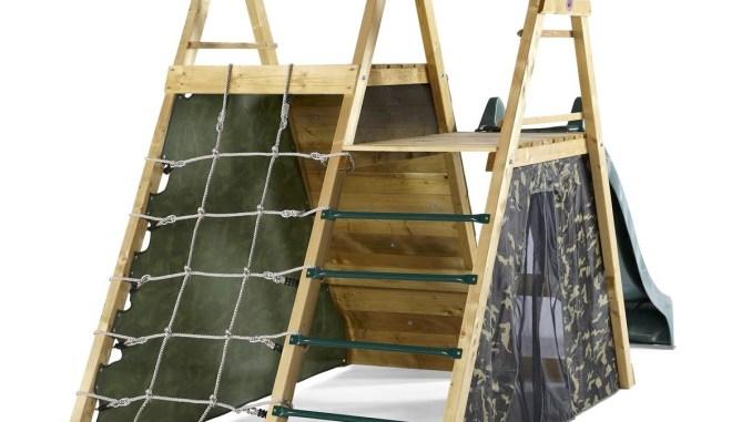 Klettergerüst Pyramide : Kletter pyramide mit schaukel und rutsche kinderspielmagazin das