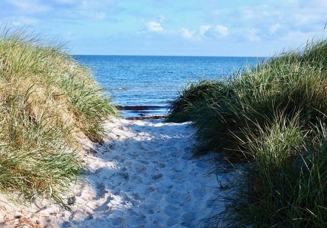 Durchgang zum Strand Heidkate