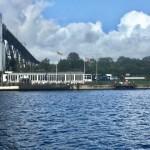 Schiffsbegrüssungsanlage Rendsburg und Café Brückenterrassen