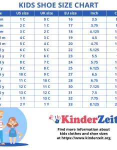 Kids shoe size chart by age also sizes children   boys girls rh kinderzeit