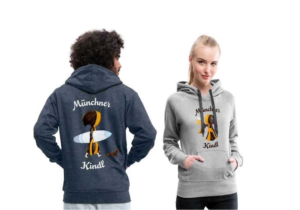 Münchner Kindl Hoodie für Damen und Herren