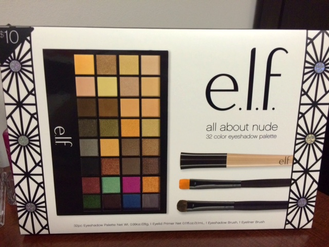 e.l.f. all about nude eyeshadow palette review