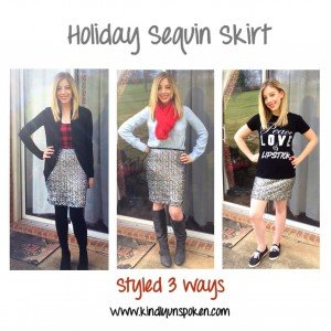 Holiday Sequin Skirt- Styled 3 Ways