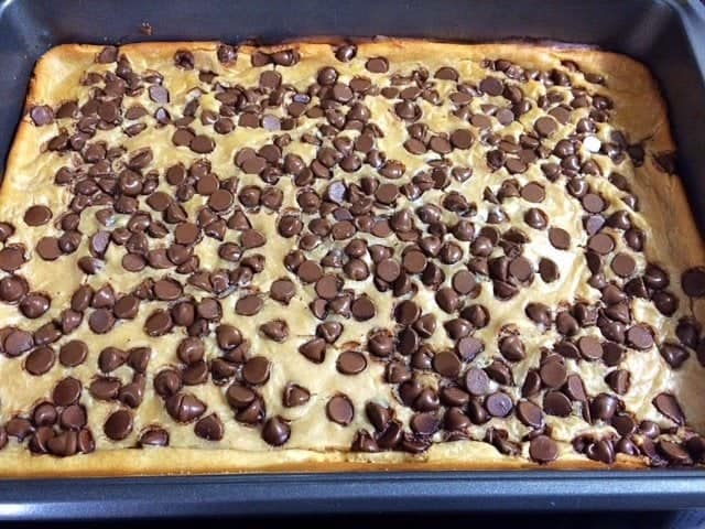 Peanut Butter and Chocolate Chip Bars