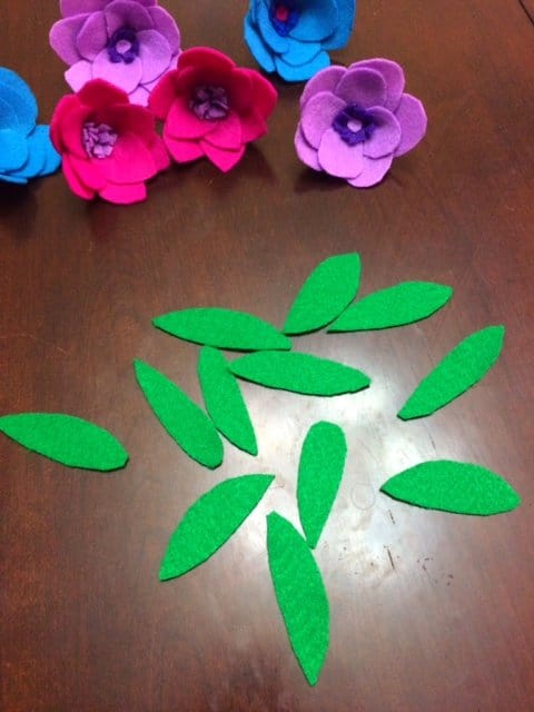 Colorful Spring Felt Flower Wreath