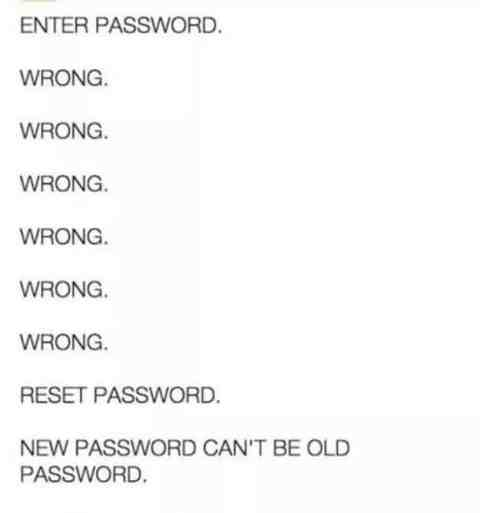 wrong password funny
