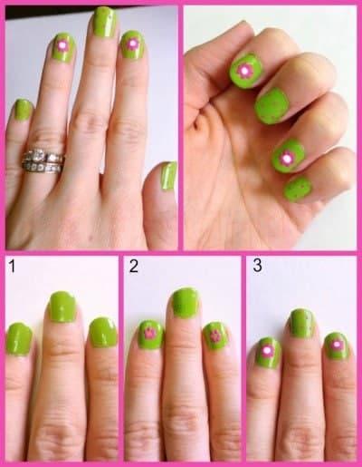 DIY Spring Flower Nails
