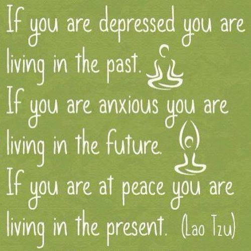 focus on present