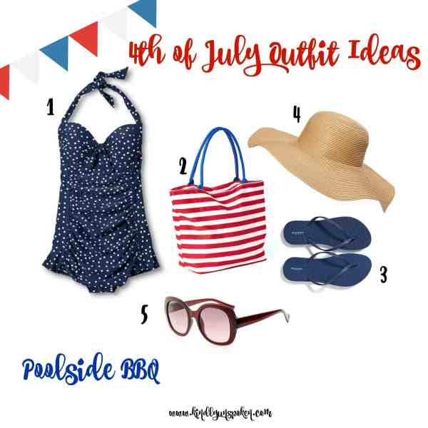 Poolside BBQ 4th of July Outfit Idea