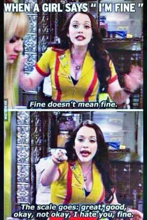 I'm fine funny