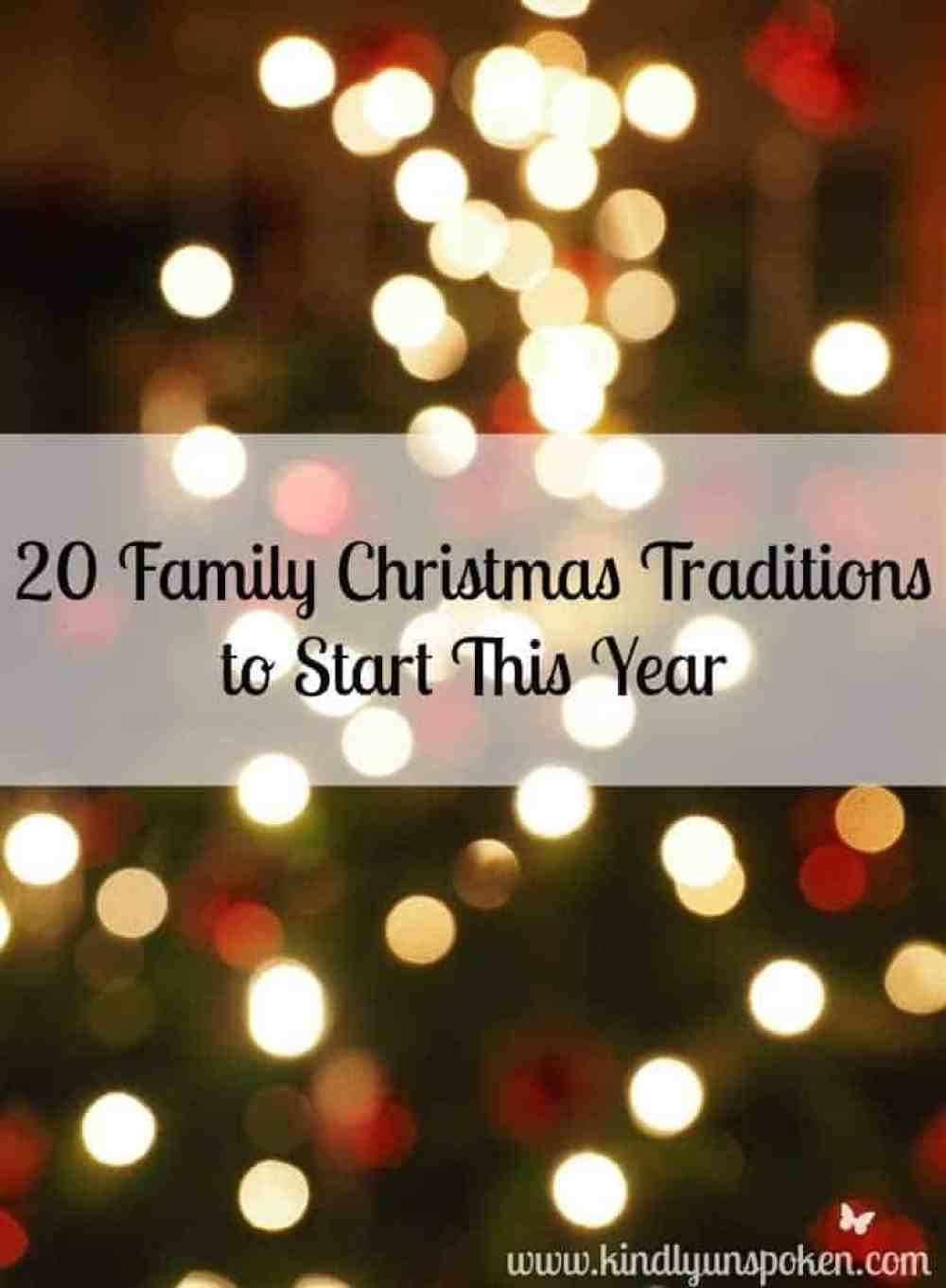 20 Family Christmas Traditions to Start This Year