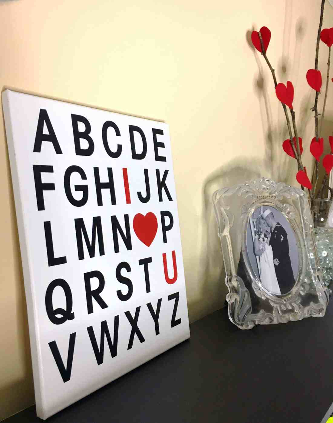 DIY Valentine's Day I Love You Canvas