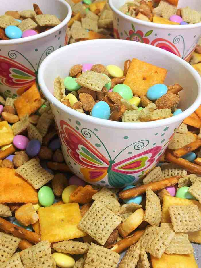 Sweet and Salty Spring Chex Mix