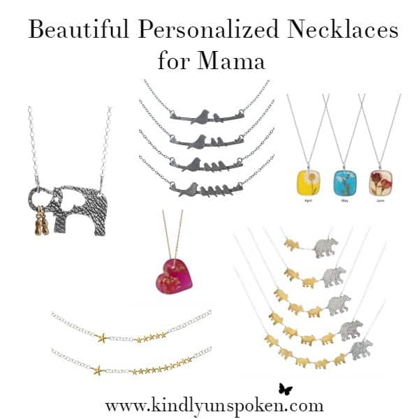 Unique Jewelry Gift Ideas for Mother's Day- Beautiful Personalized Necklaces perfect for Mama on this Mother's Day!