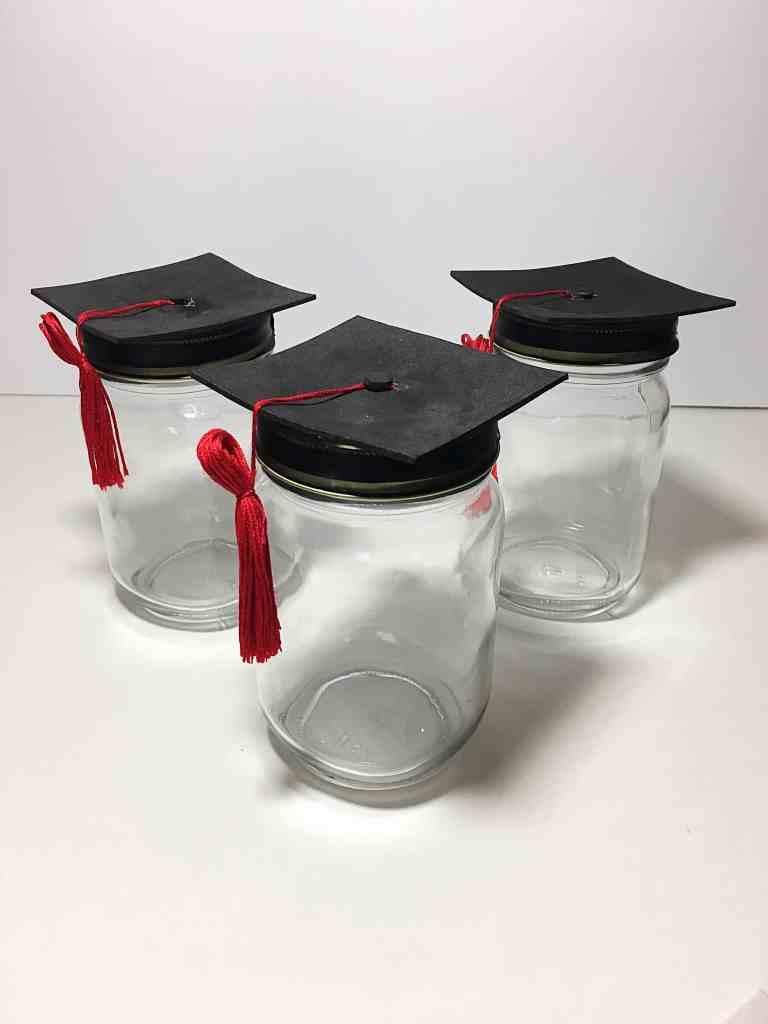 DIY Graduation Cap Mason Jars- The perfect gift for your graduate!