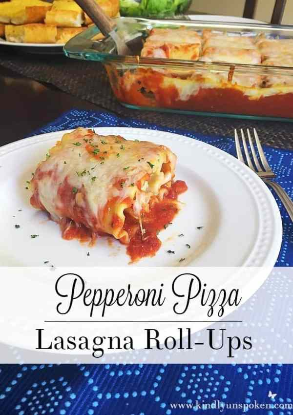 Pepperoni Pizza Lasagna Roll-Ups