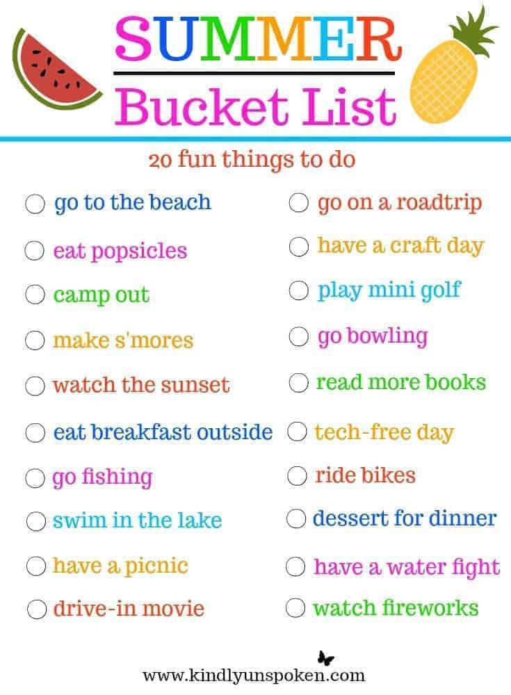 Some crazy summer bucket list ideas