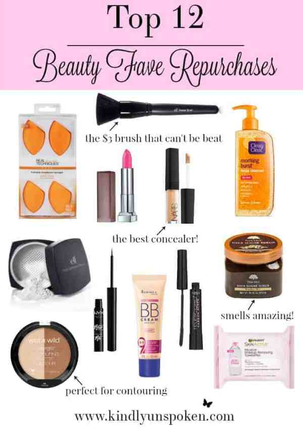 Top 12 Beauty Fave Repurchases