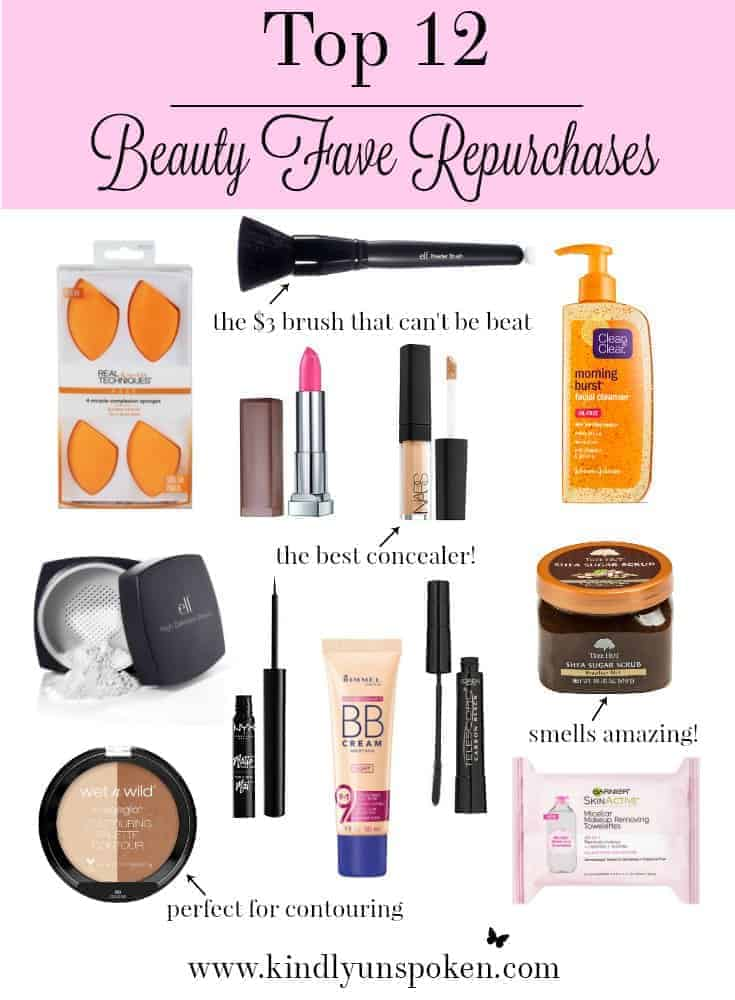 Top 12 Beauty Fave Repurchases- These are the products that I can't live without in my makeup collection!