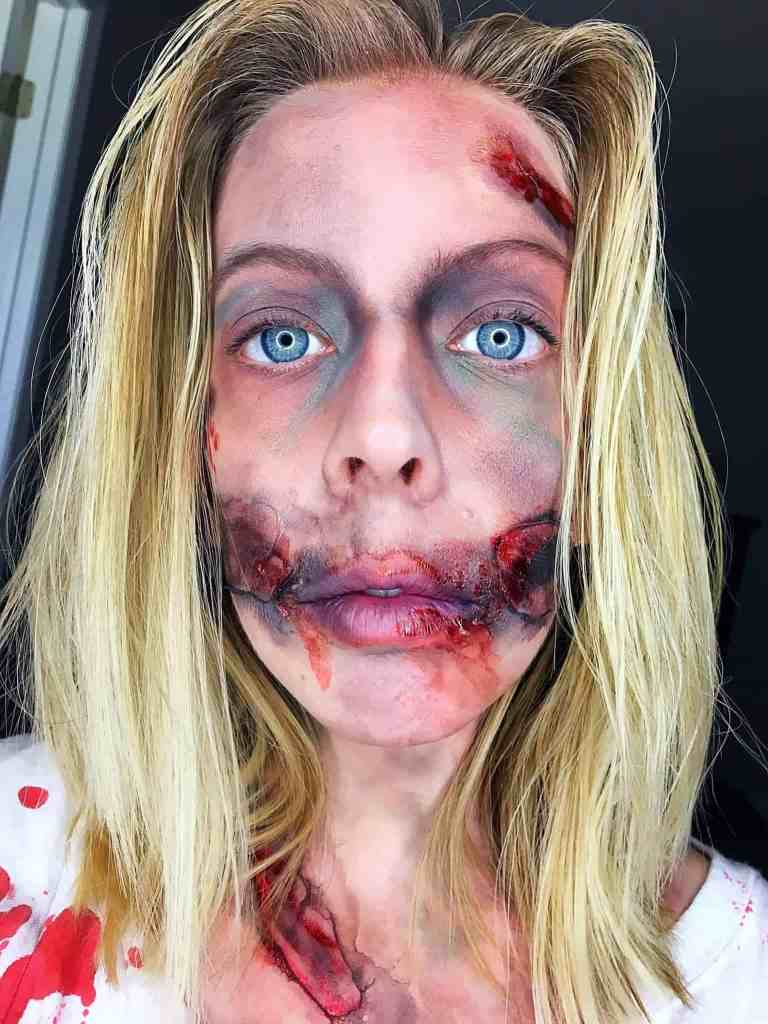 Halloween Tutorial-DIY Zombie Makeup and Costume