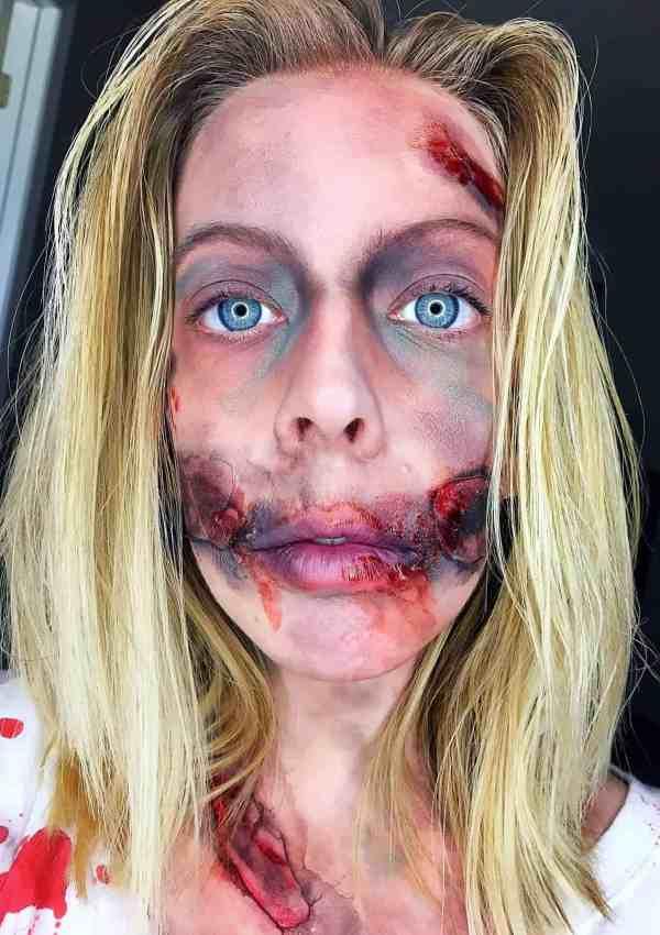 Halloween Tutorial-DIY Zombie Makeup and Costume