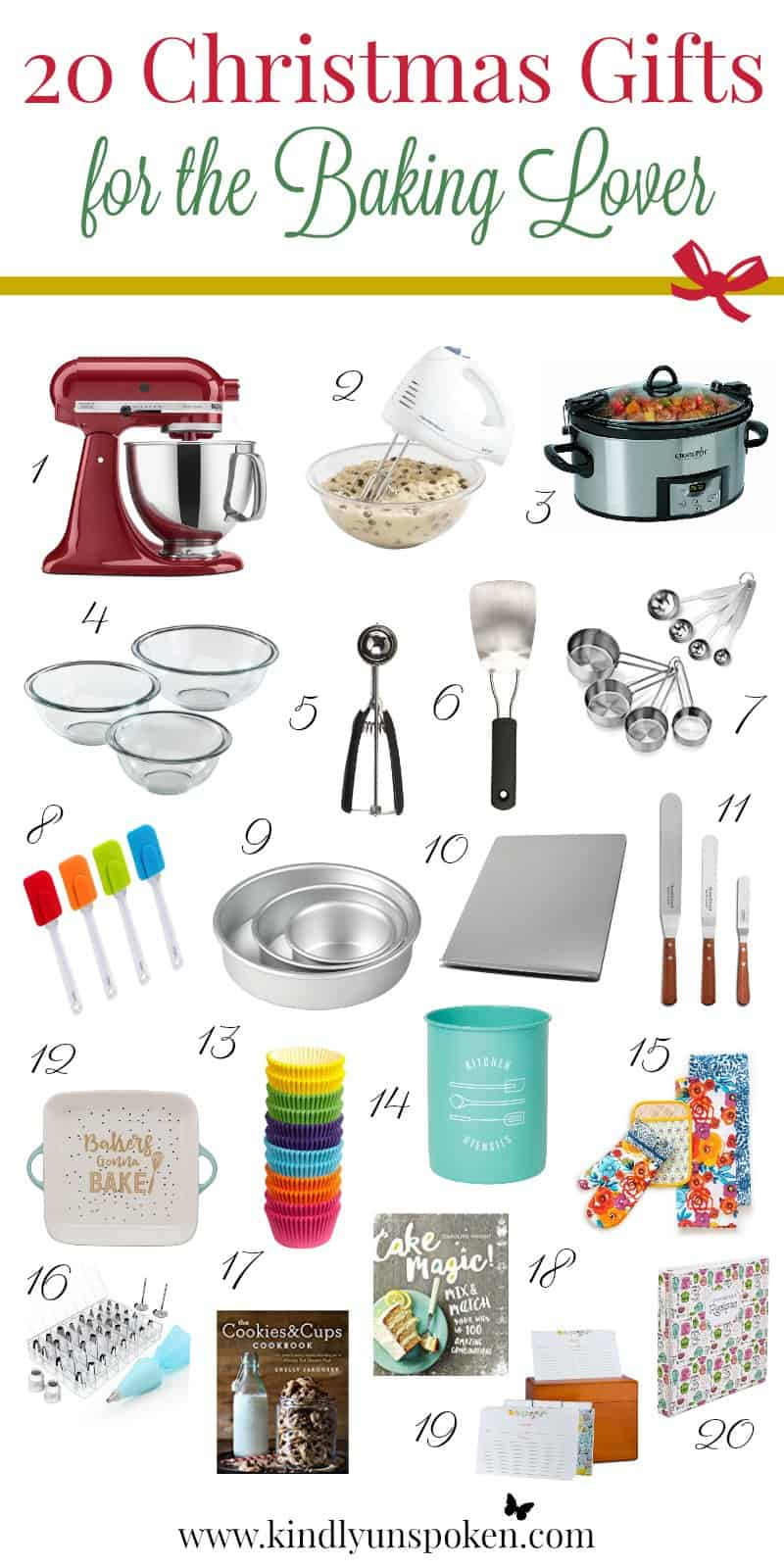 20 adorable useful christmas gifts for the baking lover