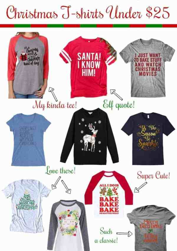 10 Adorable & Festive Christmas T-Shirts Under $25