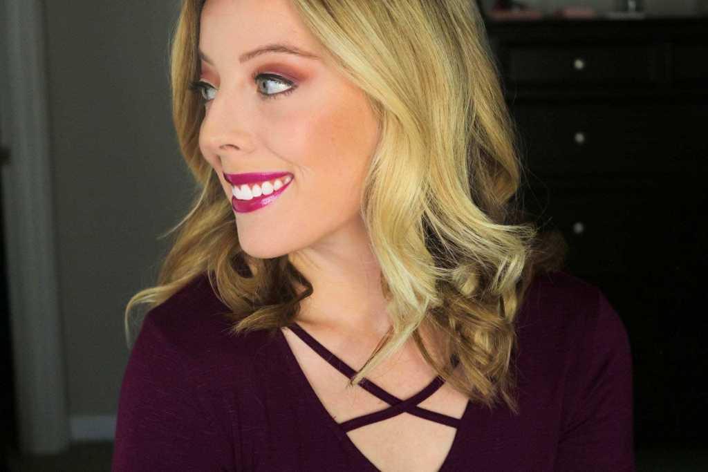 Holiday Glam- Burgundy & Gold Eye Makeup Look