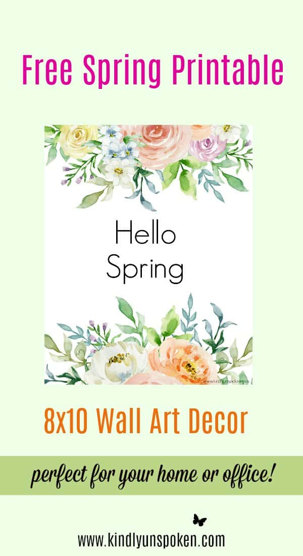 3 Free Spring Printables to Brighten Up Your Home - Kindly ...