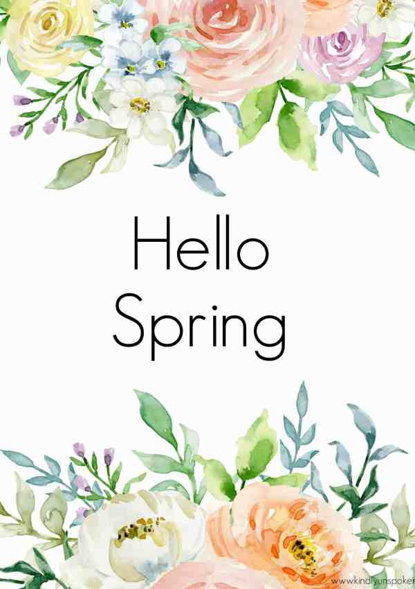 3 Free Spring Printables to Brighten Up Your Home