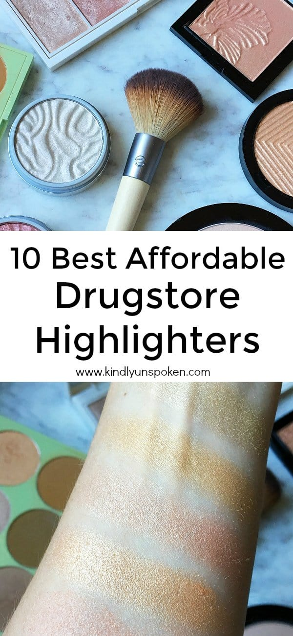Today I've rounded up 10 Best Affordable Drugstore Highlighters to add to your makeup collection that will give your skin an instant, beautiful glow. These powder highlighters and palettes are the best beauty products at the drugstore and will help you get your spring and summer glow on! Even better most are under $10 making them super affordable and budget-friendly! #highlighters #drugstoremakeup #affordablemakeup