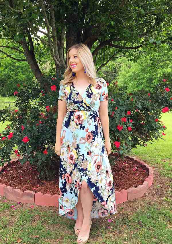Beautiful Spring Floral Maxi Dress