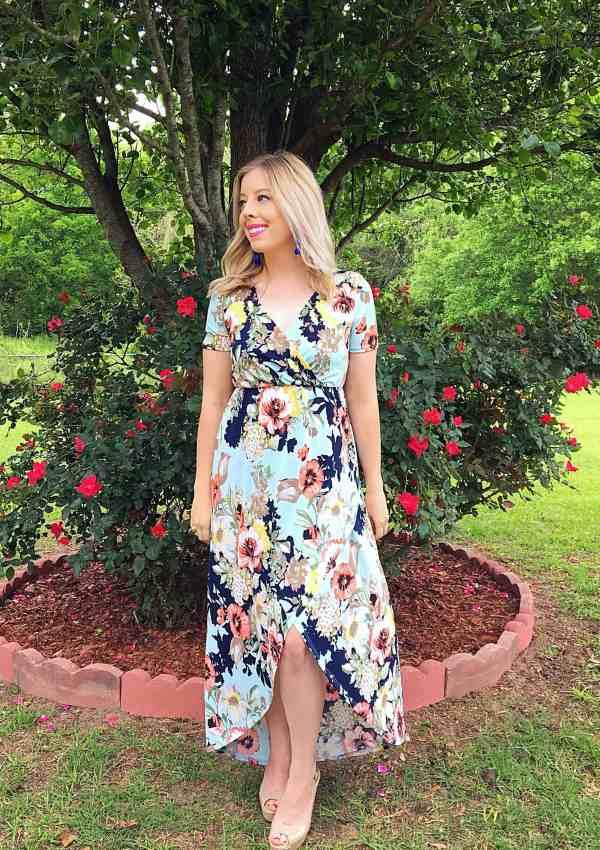 Beautiful Spring Floral Maxi Dress