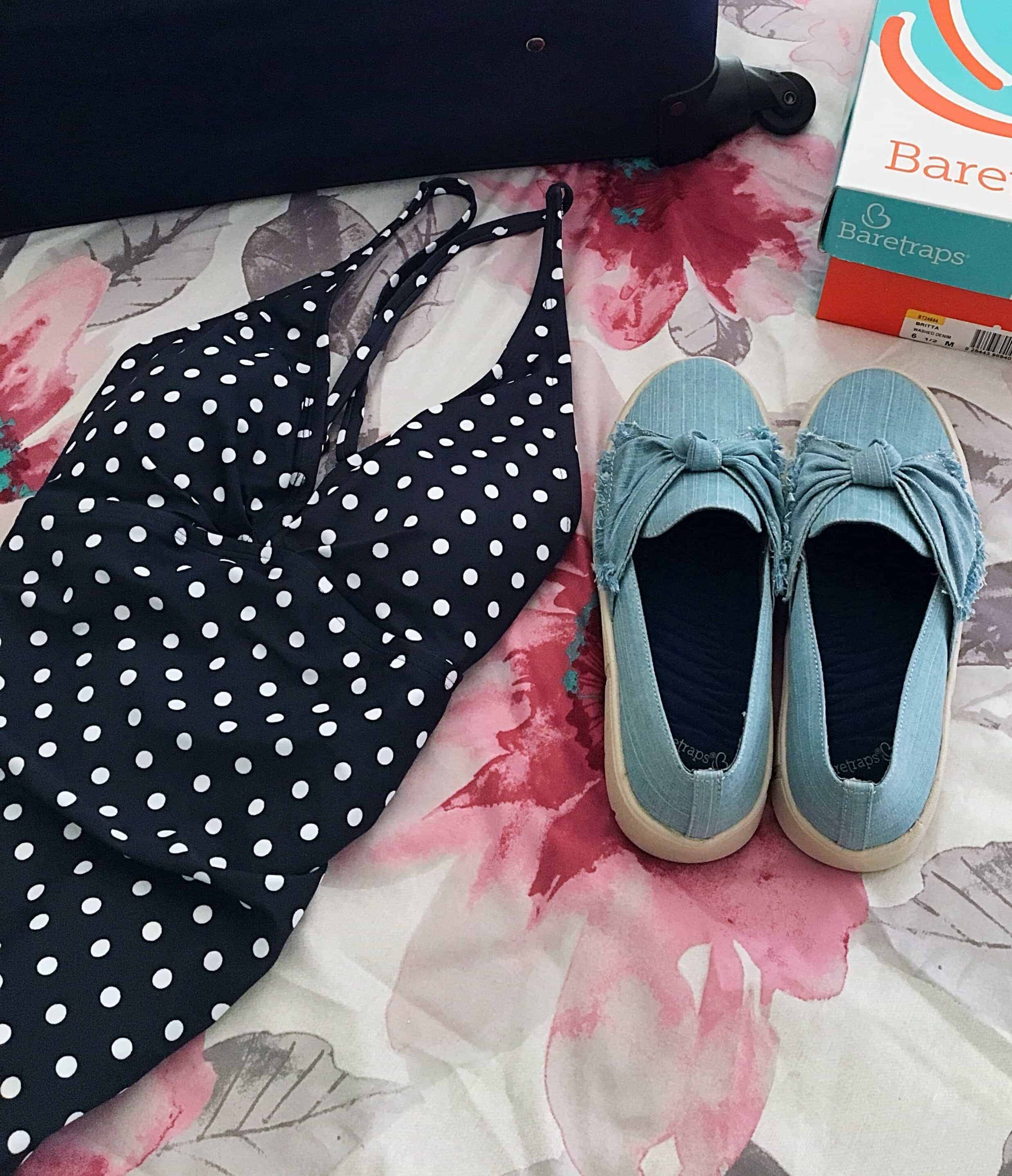 Planning your next summer trip? Then you'll love this ultimate guide that covers EXACTLY what to pack in your suitcase for your summer vacation. This vacation packing list for women covers exactly what must-have fashion items you'll need like a swimsuit, a hat, and a comfy pair of shoes! #sponsored #baretraps #summervacation #packingtips #vacationpacking #travel #vacationessentials