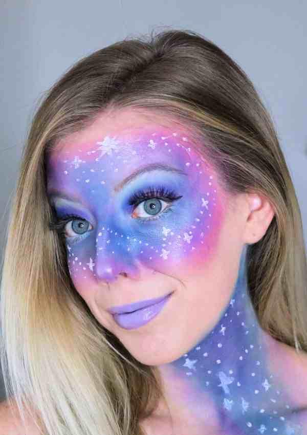 Easy Galaxy Makeup Tutorial for Halloween