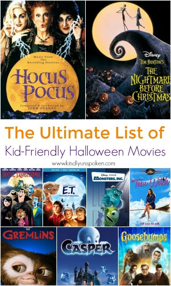 If you're looking for the perfect list of kid-friendly Halloween movies to watch, then look no further! From classic favorites to animated halloween movies all ages will love, here are 30 of the Best Halloween Movies for Kids and Families! #halloweenmovies #halloween