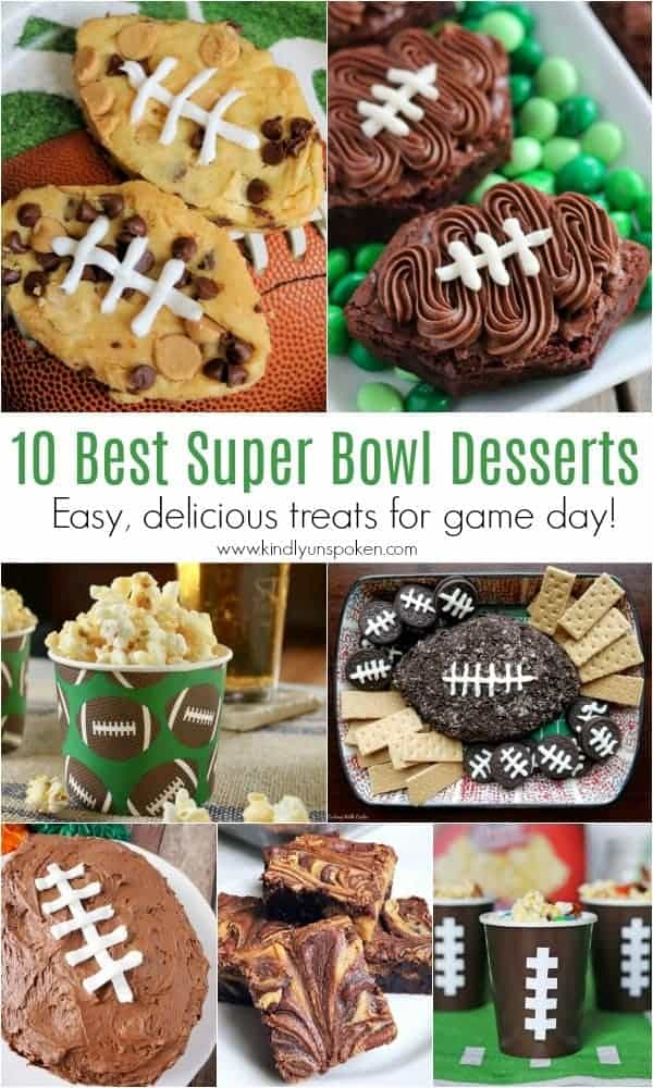 10 Best Super Bowl Desserts | Need food recipe ideas that everyone will love to eat at your next Super Bowl party? Check out my roundup of the 65 Best Super Bowl Party Food Recipes including easy and delicious appetizers, wings, dips, snacks, desserts, and more! #superbowl #partyfood #superbowlfood