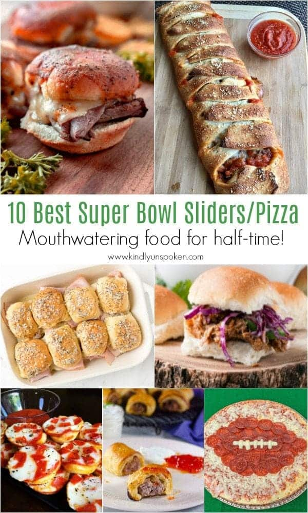 10 Best Super Bowl Sliders/Pizza | Need food recipe ideas that everyone will love to eat at your next Super Bowl party? Check out my roundup of the 65 Best Super Bowl Party Food Recipes including easy and delicious appetizers, wings, dips, snacks, desserts, and more! #superbowl #partyfood #superbowlfood