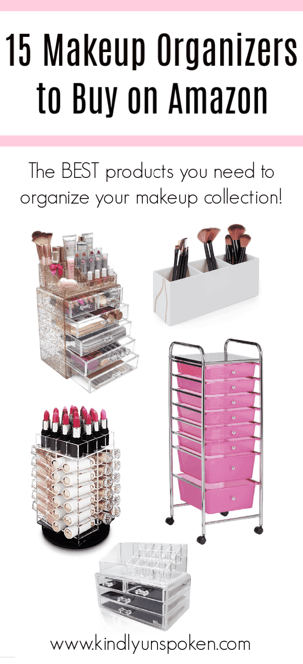 It's time to get your makeup collection organized! Check out the 15 Best Makeup Organizers to Buy on Amazon which includes affordable organizers and storage solutions to organize all your makeup and beauty products. #makeuporganizers #amazon